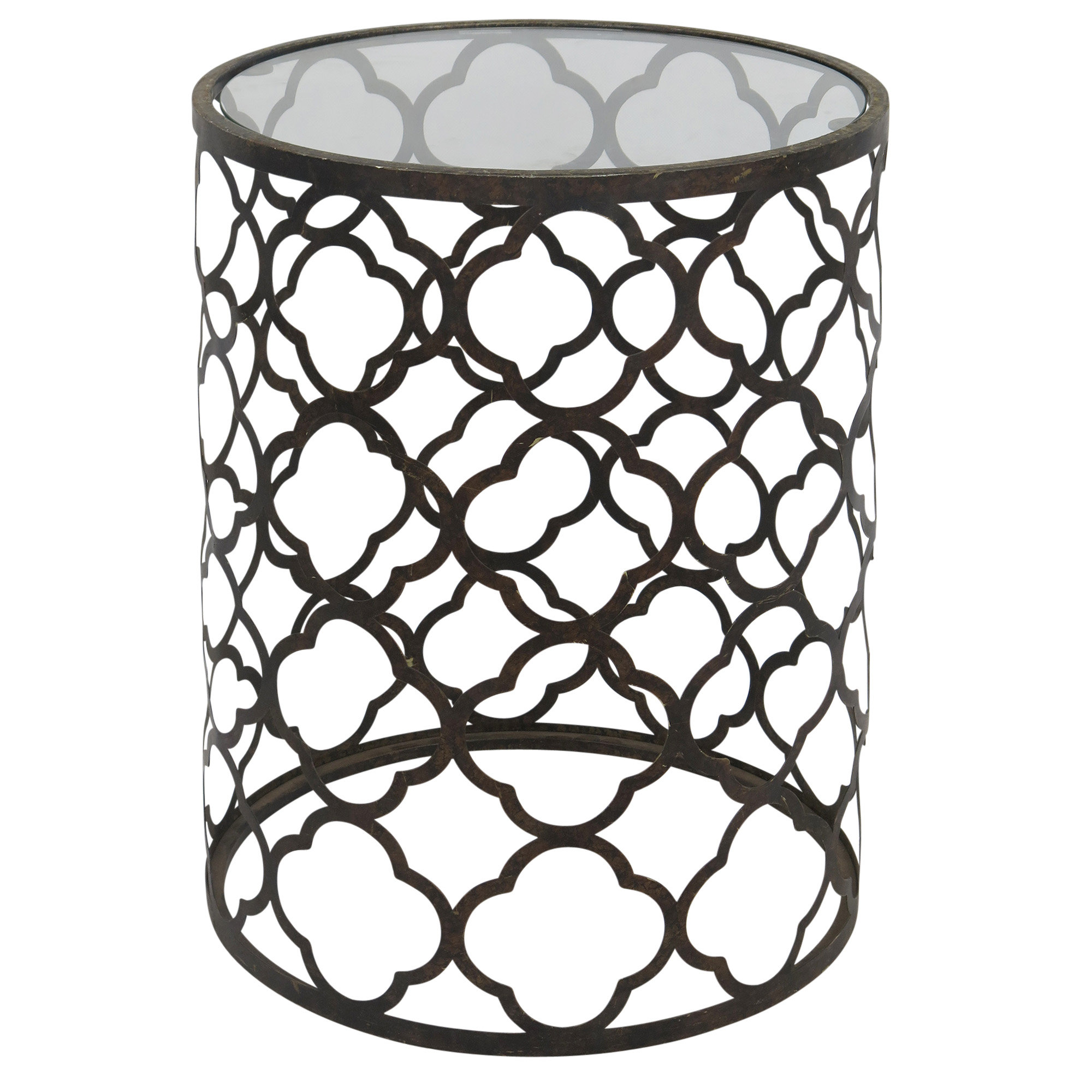 quatrefoil end table jewett accent quickview black metal outdoor side folding coffee ikea furniture tables small with marble top rubber threshold trim gold cocktail tall drawer