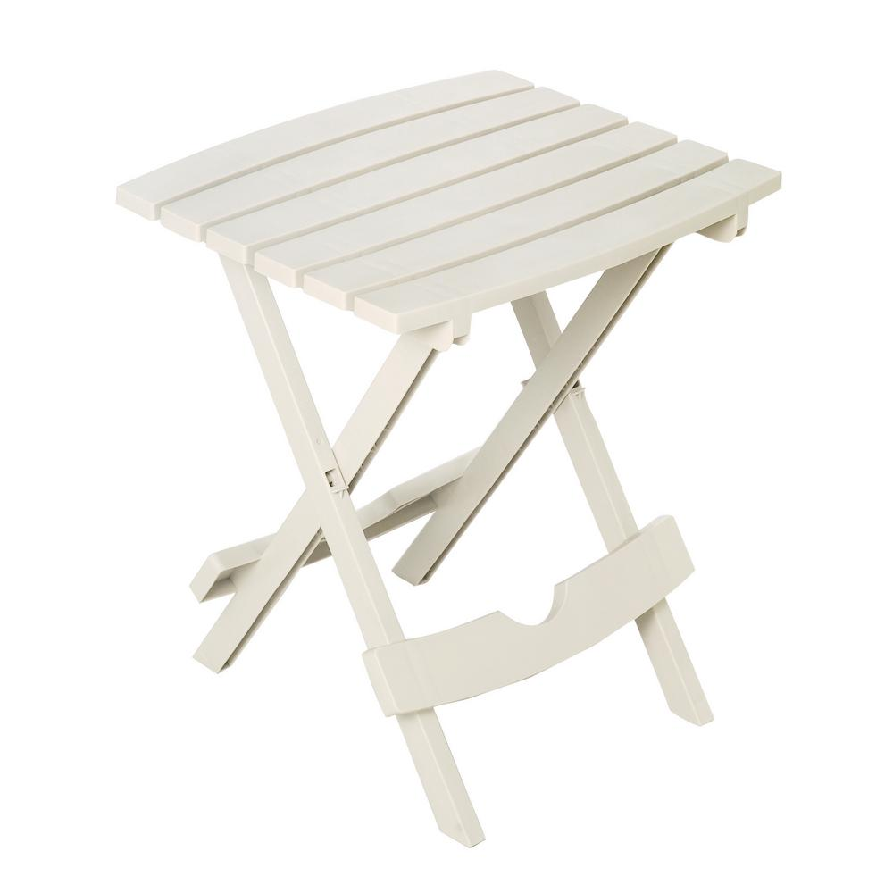 quik fold chalk patio side table the outdoor tables folding accent round black metal hairpin leg chair umbrella for outside off white nightstand tile top furniture pieces living