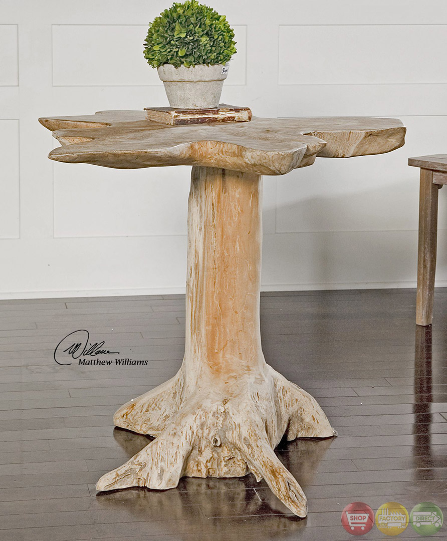 quito tree trunk solid teak wood accent table mountain oriental lamp shade distressed coffee tall dining room sets entry wall vintage crystal lamps pottery barn console with