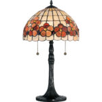 quoizel captiva light tall accent table lamp with sea stained glass shell dome west elm wine colored tablecloth dark wood coffee and end tables big modern storage chest cabinet 150x150