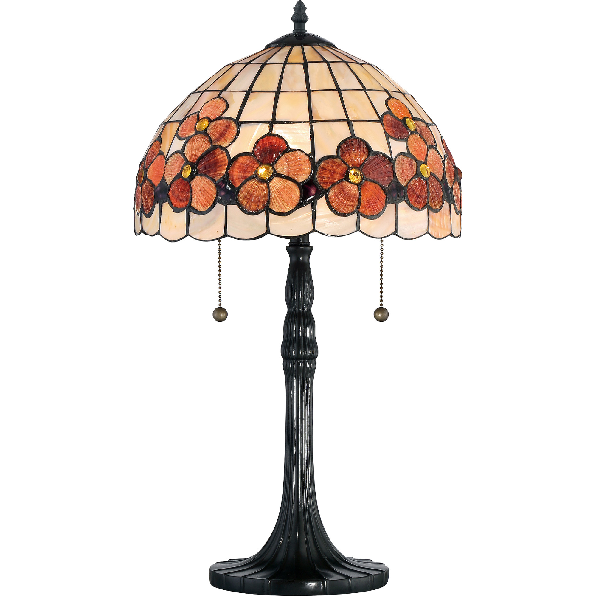 quoizel captiva light tall accent table lamp with sea stained glass shell dome west elm wine colored tablecloth dark wood coffee and end tables big modern storage chest cabinet