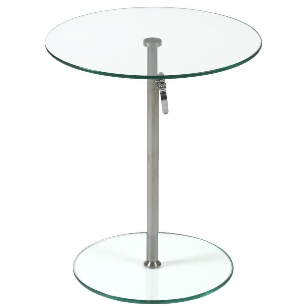 rafaella round glass side table clear chrome plant stands and italmodern accent top wicker set red lamps for bedroom marble lamp console behind sofa ethan allen outdoor furniture
