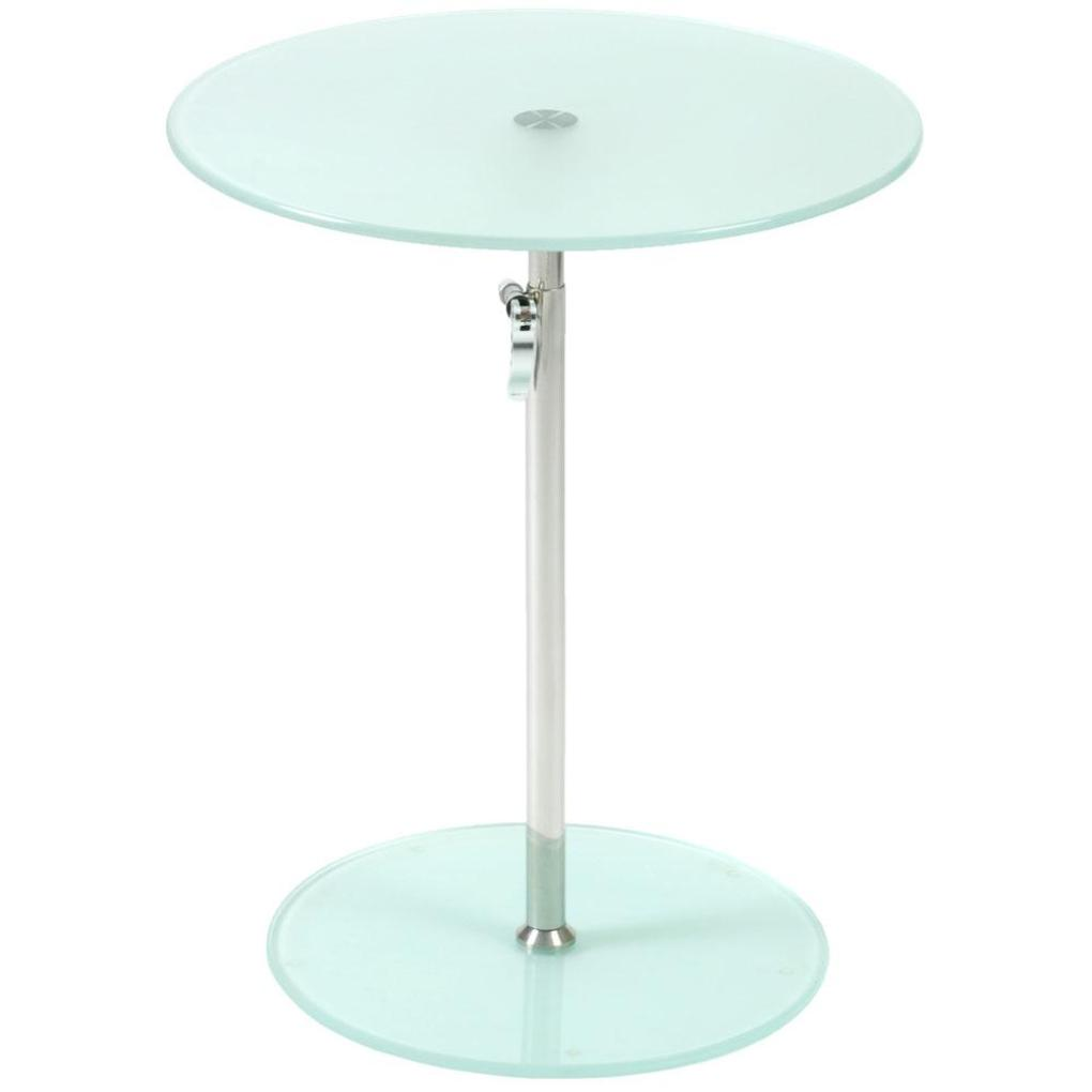 rafaella round glass side table frosted chrome plant stands and italmodern accent telephone white kitchen chairs diy sliding door hardware long cabinet back patio furniture wood