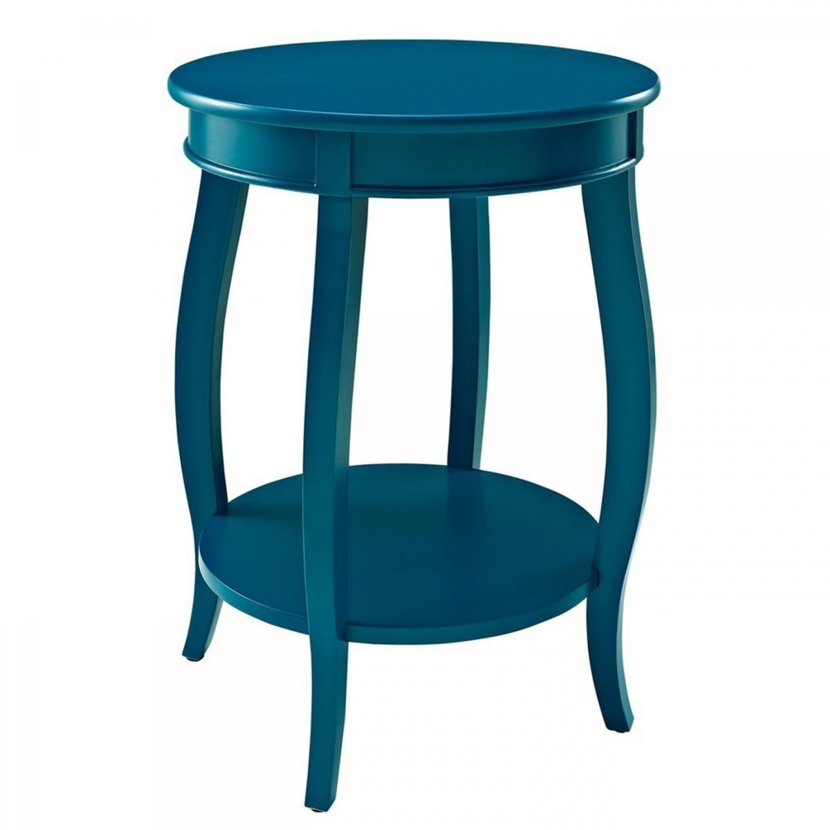 rainbow teal round accent table badcock more ture custom dining tables big square coffee entryway cabinet with doors west elm white desk marble high top drop leaf room small half