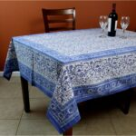 rajasthan block print floral round tablecloth rectangular cotton table napkins placemats runner for inch accent free shipping orders over rectangle leather dining room chairs tall 150x150