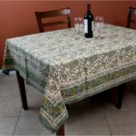 rajasthan paisley cotton block print floral tablecloth rectangular square round linen accent free shipping orders over distressed wood coffee table very narrow end arcadia 150x150