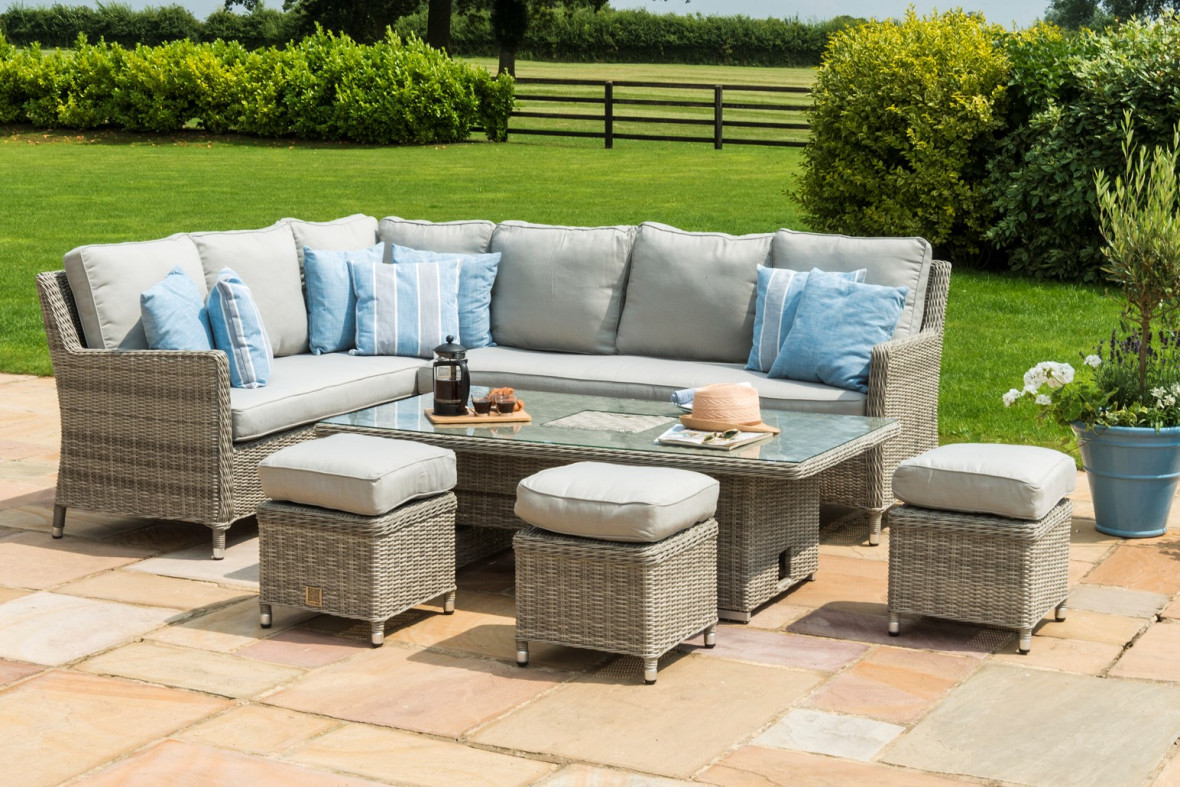 rattan furniture fairy garden patio maze oxford venice corner sofa dining set with rising table and ice bucket oxf outdoor side end stands for living room quilt chair covers cover