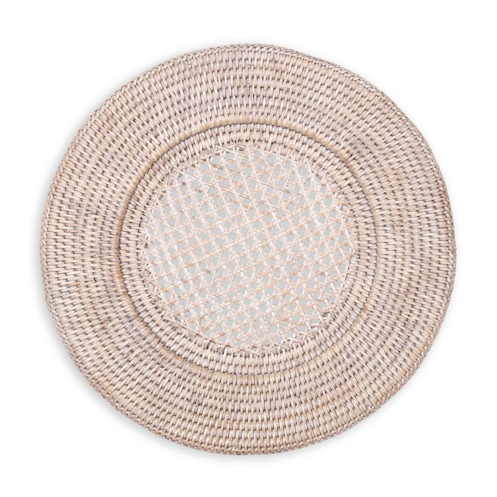 rattan round plate charger white natural each caspari artistic accents tablecloth target threshold gold side table hot water heater replacement cushions home items ashley