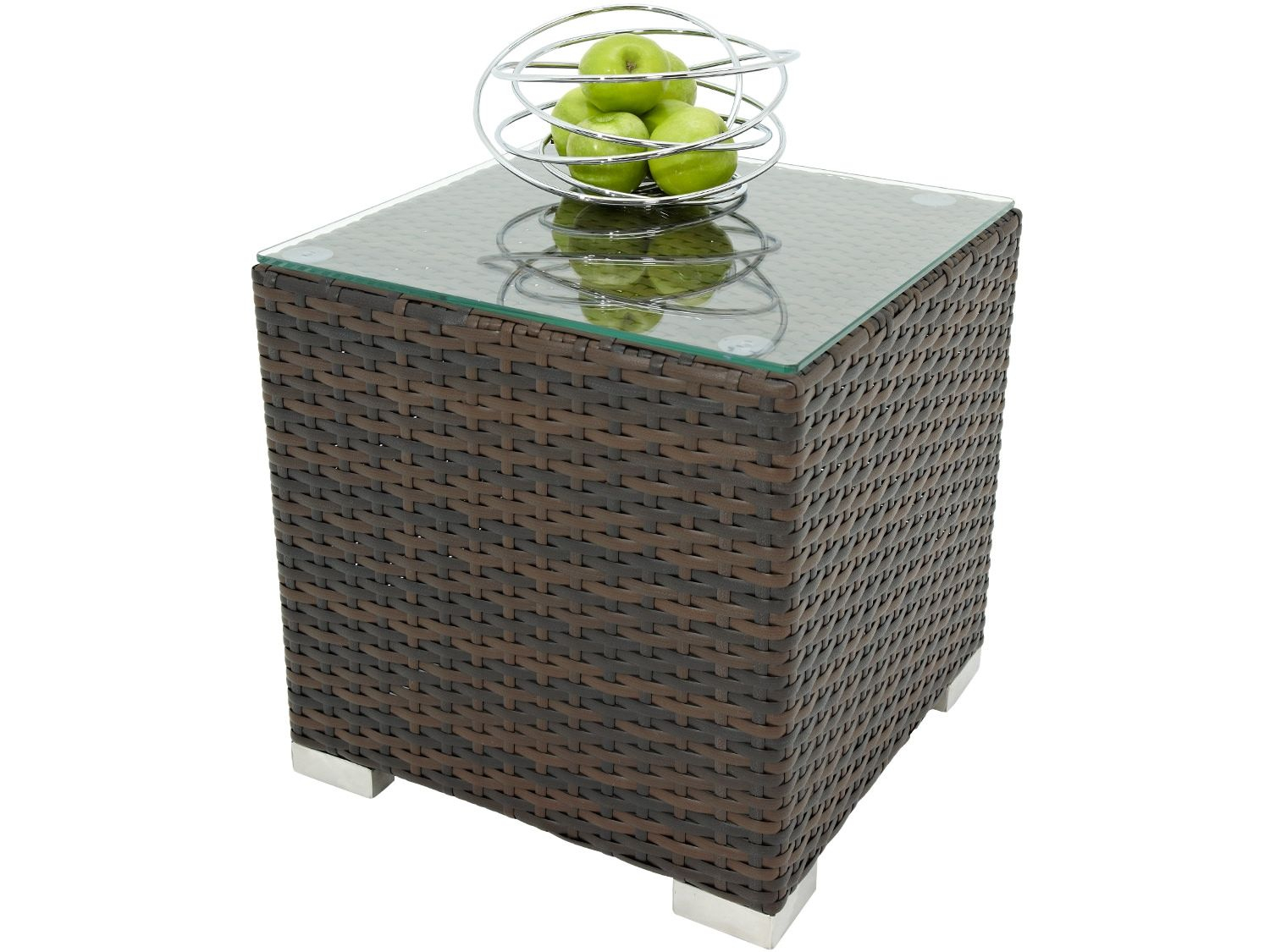 rattan side table coffee brown outdoor ethan allen pineapple oriental porcelain lamps miera diamond mirrored accent small room couch target lounge chairs unfinished square marble