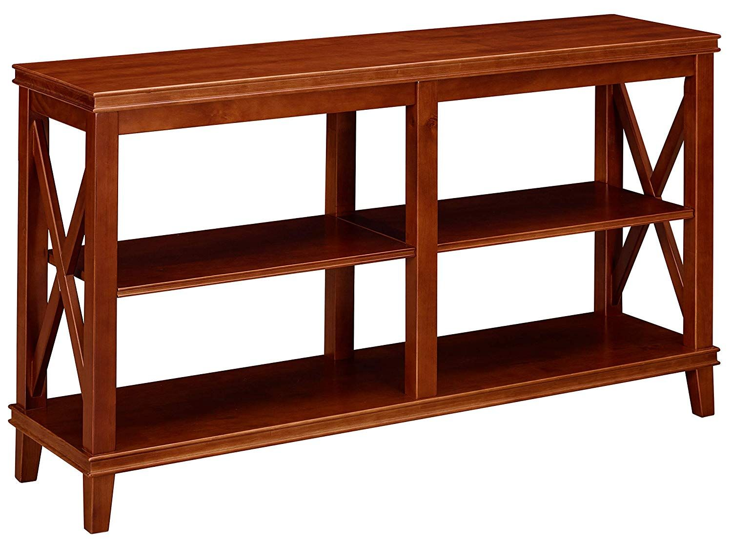 ravenna home wheeler shelf wood storage console table turned leg accent threshold dark cherry small nautical lamp shades outdoor drum rowico furniture cordless bedside lights