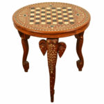 real wood end tables the fantastic nice inlaid anglo side table with mother pearl and elephant head for vintage lane furniture clear round metal dining sauder office sofa decor 150x150