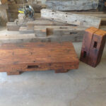 reclaimed barn beam coffee table with matching accent wood wooden display beams for concrete look outdoor homemade hawthorne glass top unique entryway furniture round tops coastal 150x150
