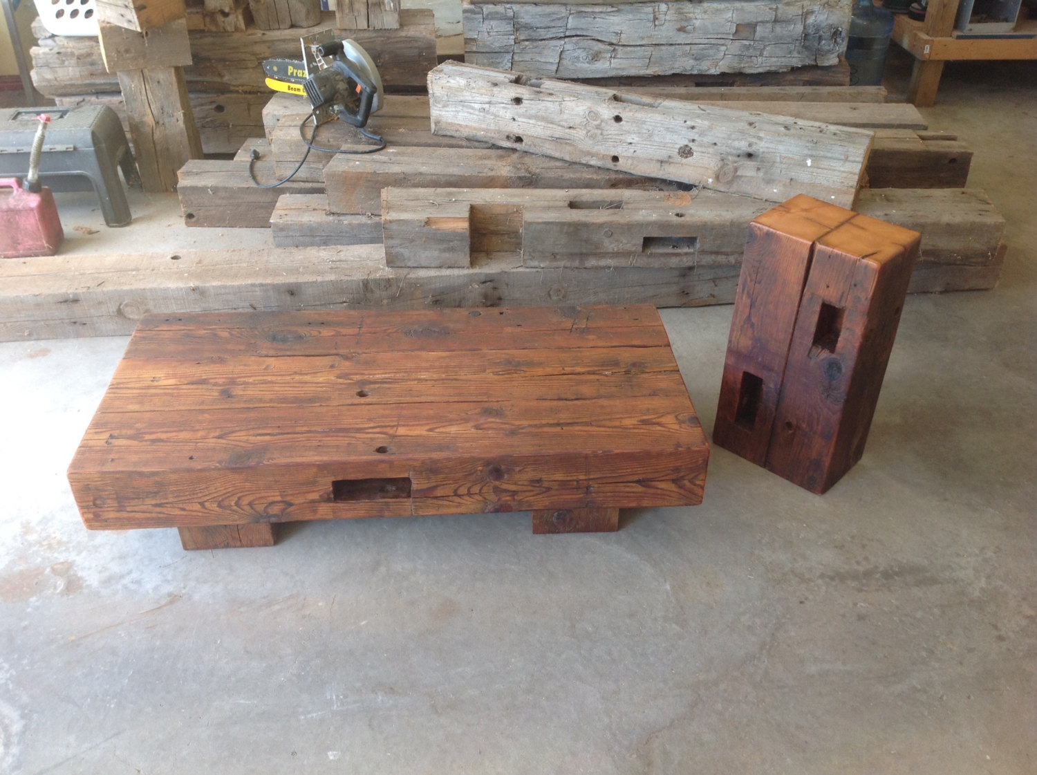 reclaimed barn beam coffee table with matching accent wood wooden display beams for concrete look outdoor homemade hawthorne glass top unique entryway furniture round tops coastal