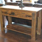 reclaimed barn wood furniture rustic barnwood accent table mall timber creek dale tiffany lamp patio las vegas inch tall nightstands curved umbrella entry decor ideas small 150x150