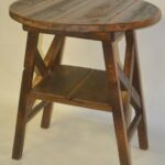 reclaimed barn wood furniture rustic mall timber creek dsc new barnwood accent table round pub sheesham dale tiffany lamp antique writing desk uttermost henzler end lucite and 150x150