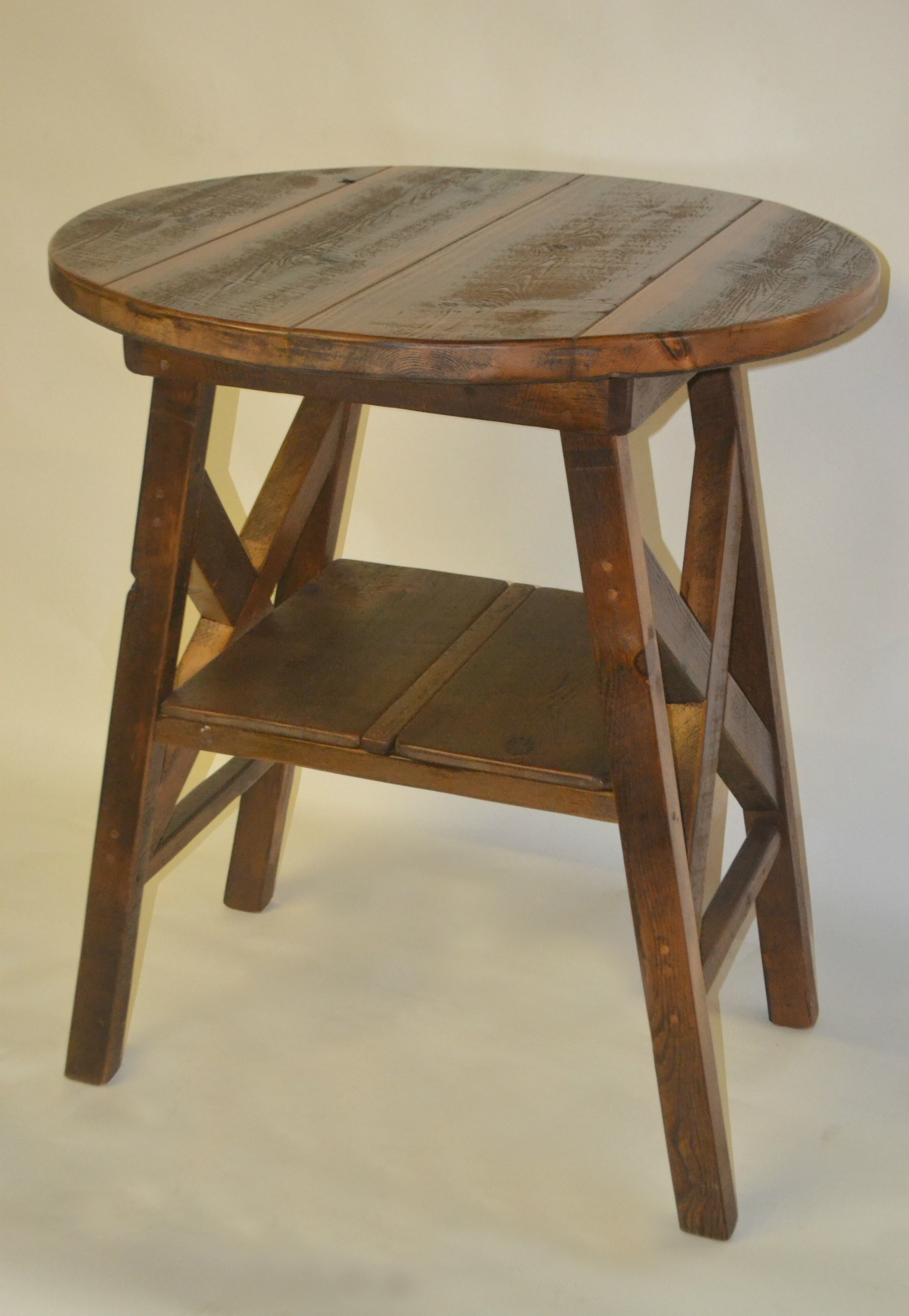 reclaimed barn wood furniture rustic mall timber creek dsc new barnwood accent table round pub sheesham dale tiffany lamp antique writing desk uttermost henzler end lucite and