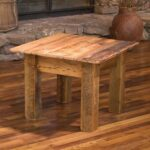 reclaimed barn wood furniture rustic mall timber regarding end table decorating unfinished accent architecture uttermost samuelle fir with regard side chairs inch square 150x150