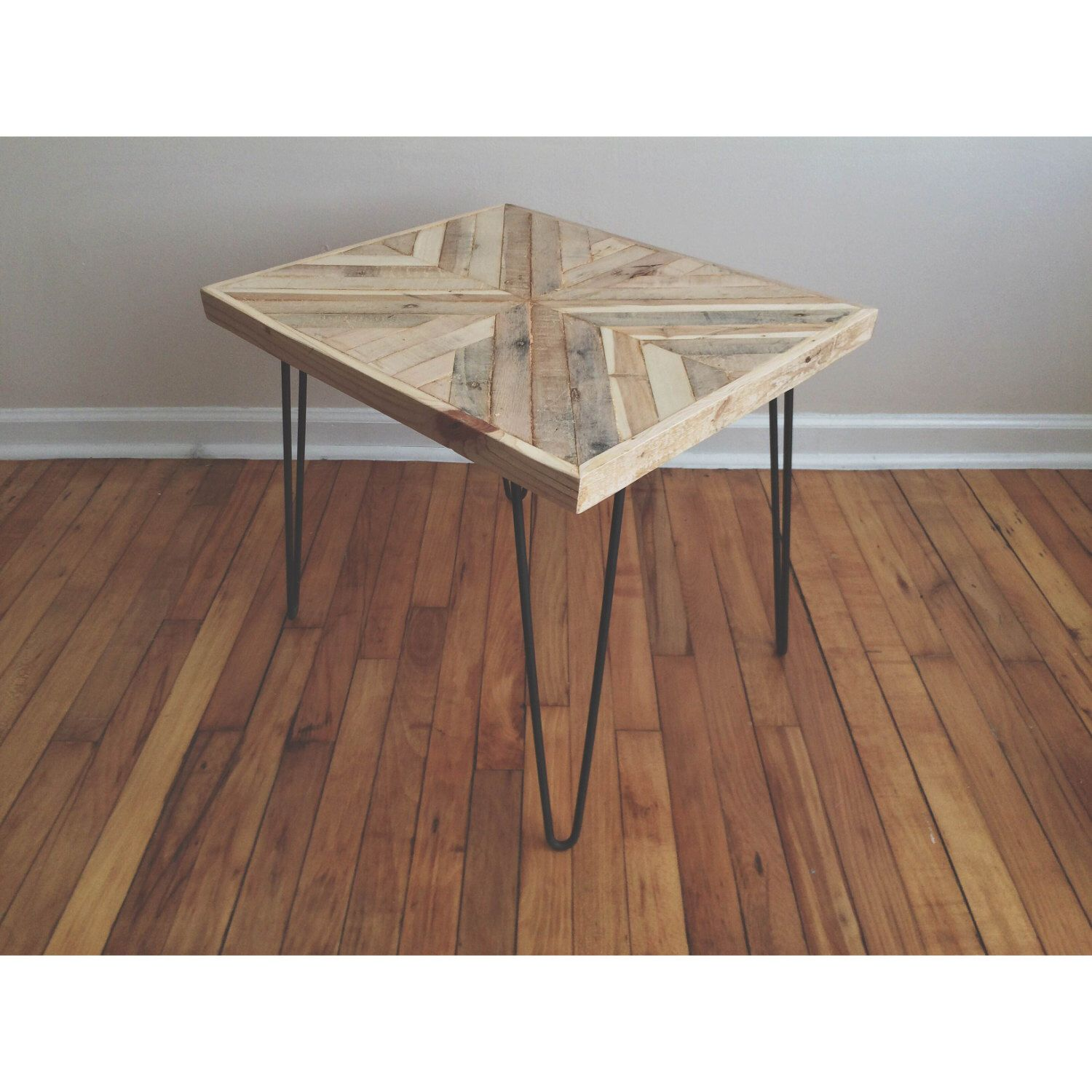 reclaimed rustic hairpin side table bnb carpentry room essentials accent reachandgrow etsy rectangular marble dining round red tablecloth small with top cool tablecloths yellow