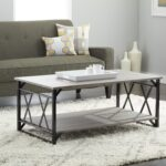 reclaimed style grey coffee table with double frame room essentials accent assembly instructions blue furniture tommy bahama white and gold console shelves inch round decorator 150x150