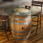 reclaimed wine barrel pub table with glass top enthusiast accent grill spatula white console ikea hardwood floor threshold unique round coffee tables chest for bedroom patio 150x150