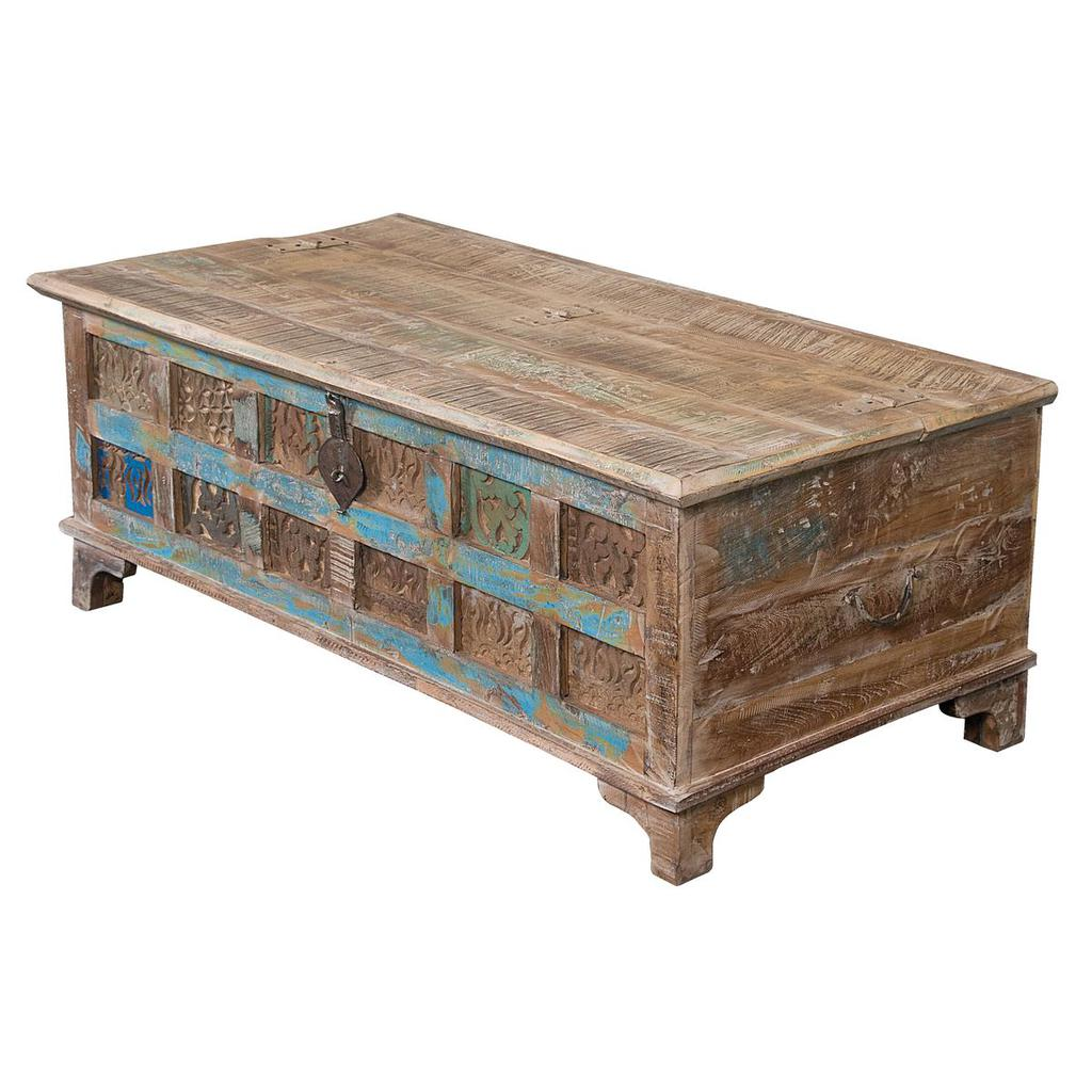 reclaimed wood accent trunk cocktail print block casaza table grey wicker coffee distressed side white ginger jar lamps oak door threshold large gazebo counter height folding