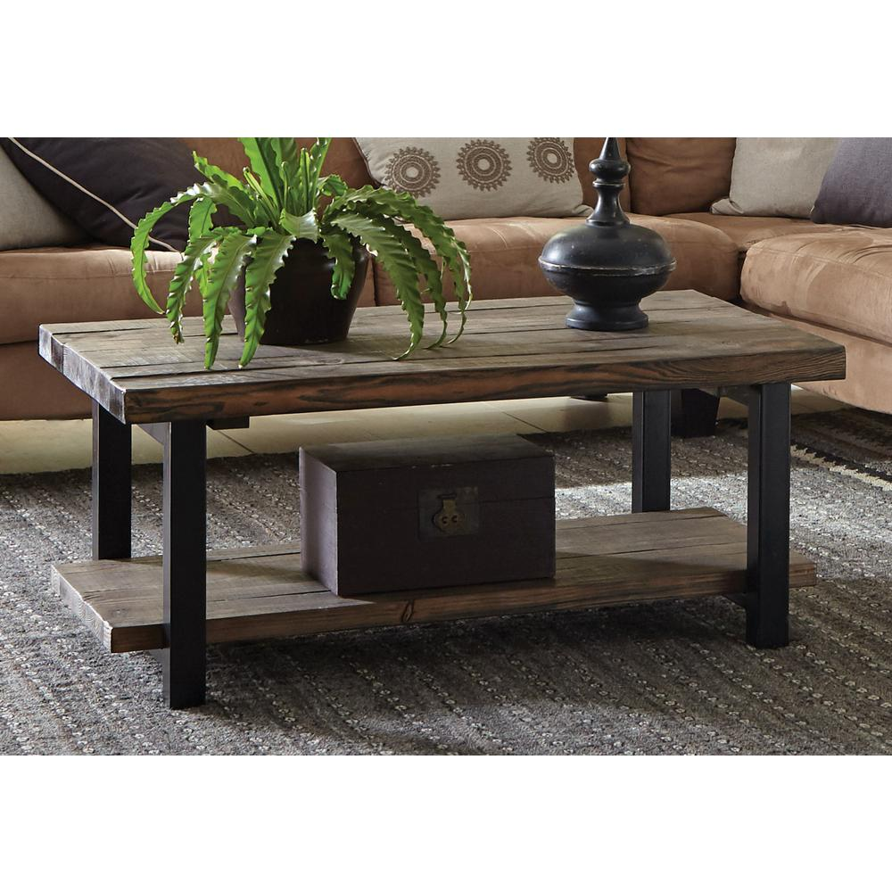 reclaimed wood coffee tables accent the rustic natural alaterre furniture farmhouse table pomona garden bench covers west elm square bunnings seat pottery barn pine jcp order legs