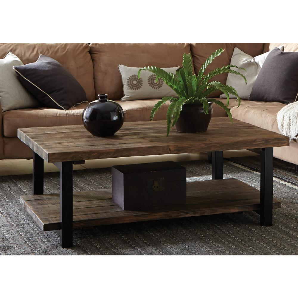 reclaimed wood coffee tables accent the rustic natural alaterre furniture farmhouse table pomona navy chair modern and chairs black glass end side childrens garden living room