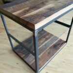 reclaimed wood furniture and barnwood custommade metal garden accent table hardwoods steel frame glass shelf end pottery barn beds target vizio sound bar back patio ikea high 150x150