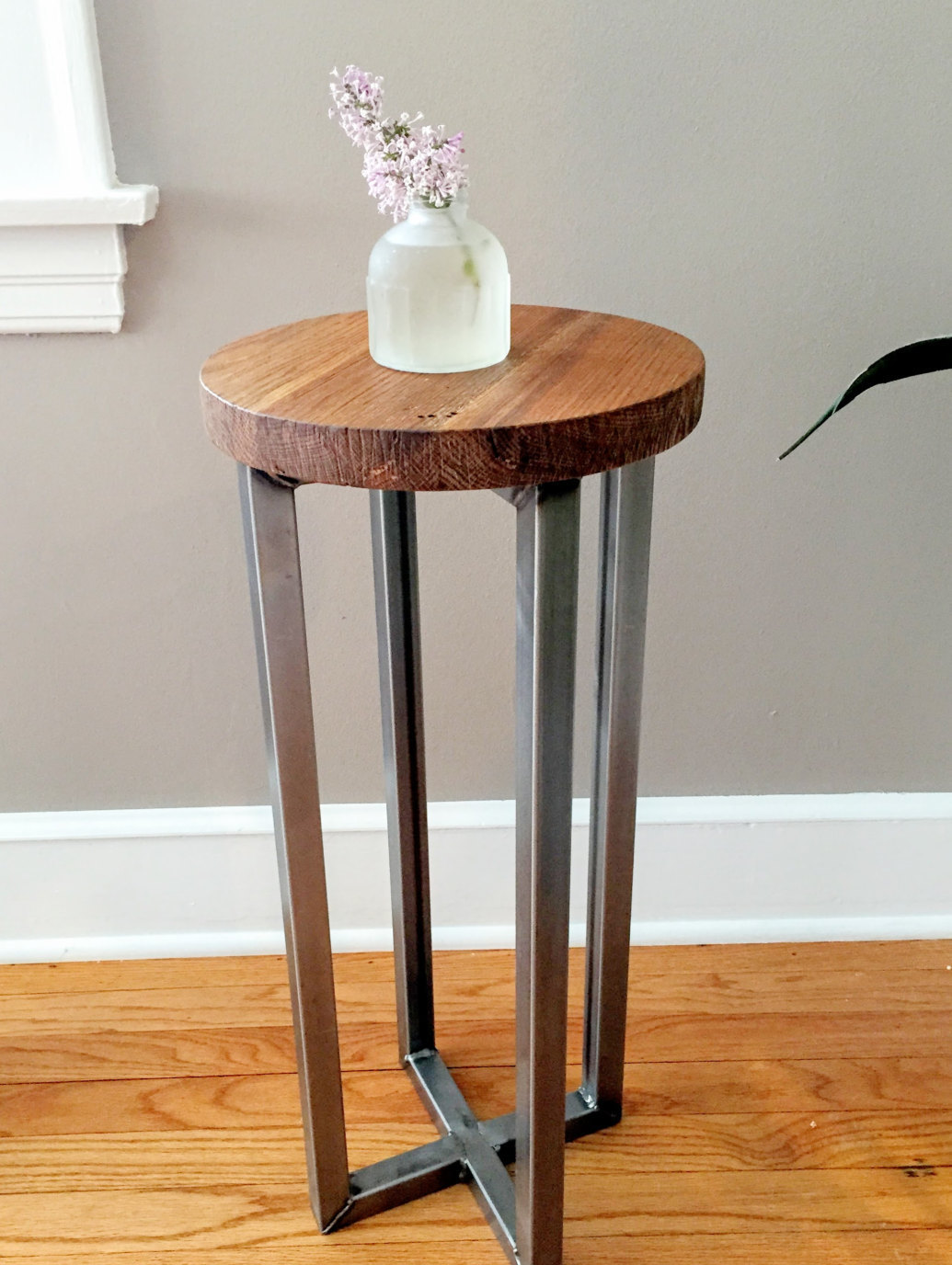 reclaimed wood round side table accent end outside metal and diy wrought iron tables legs for computer furniture patio seating sets antique oval long outdoor storage cupboard