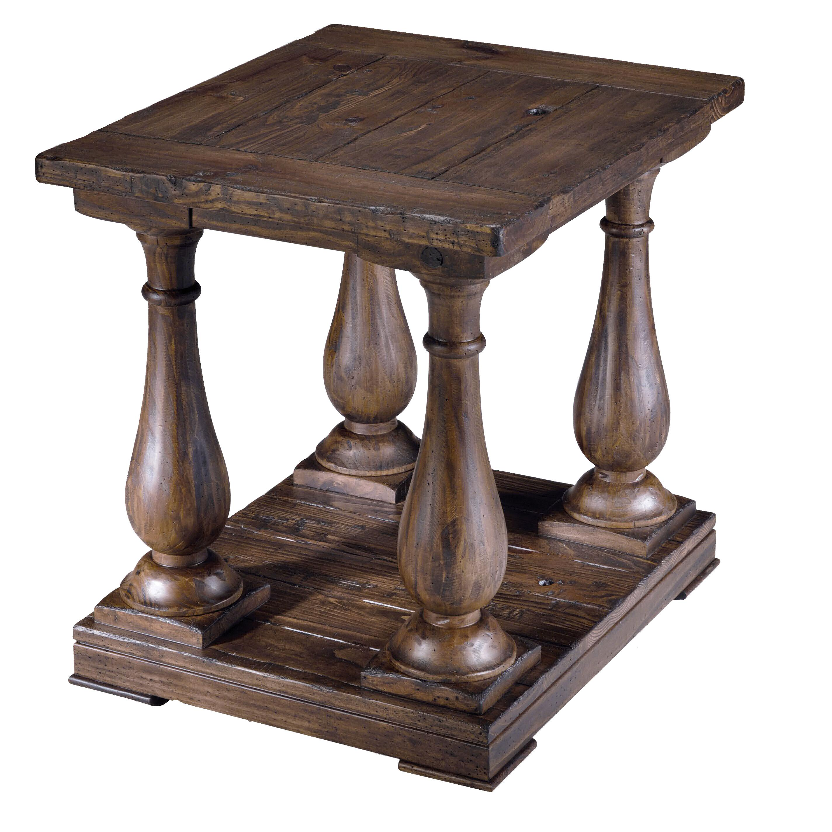 rectangular column end table magnussen home wolf and gardiner products color densbury accent square round cherry timber furniture brisbane one drawer side dining room runners