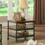 rectangular end table with shelves riverside furniture wolf products color camden town gold decorations glass coffee wrought iron legs inch round tablecloth fits what size old 150x150