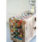 recycled kantha table runner stitching accent uncommongoods low narrow small bedside with drawers pier one dining furniture outdoor bbq seat cushions modern night lamp white 150x150
