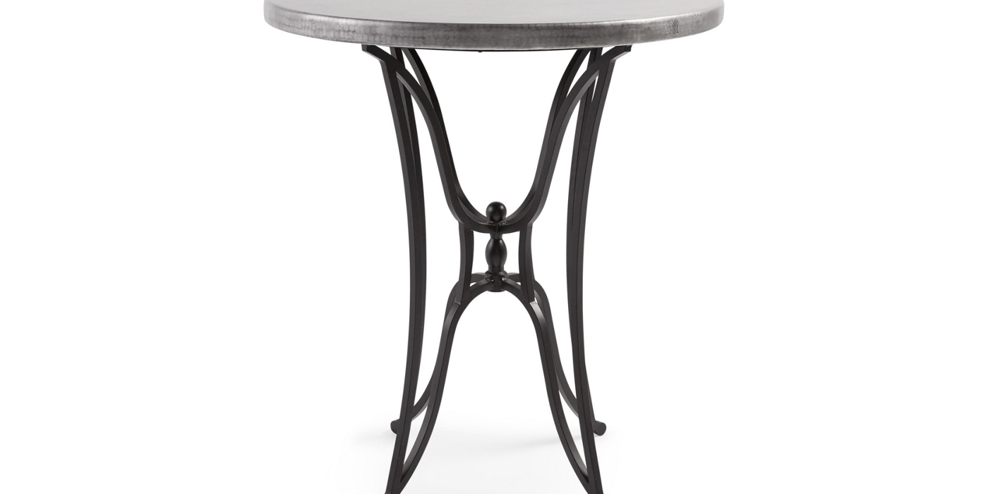 recycled metal furniture collection arhaus product largestandard zinc accent table small stand upcycled dining storage cabinets high end tables black and white throw rug round
