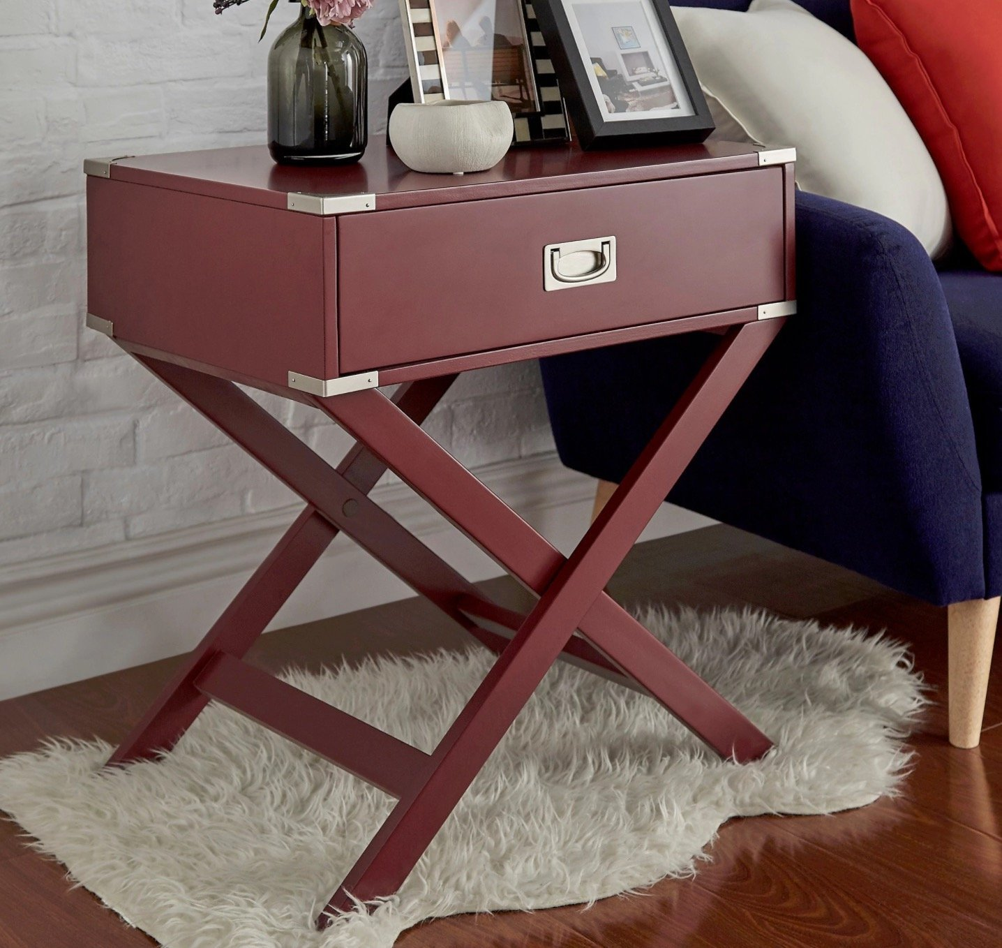 red accent table find line base get quotations wood tawny port black sofa unusual end tables chest designs diy tan plastic covers tile and floor transition room essentials white