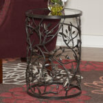 red barrel studio perley bird and branch end table reviews metal eyelet accent antique gold brown coffee shabby chic floor lamp tables decor backyard furniture nautical ceiling 150x150