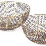 red fig home decorative metal baskets set iron bowls bronze resized wire basket accent table bowl large small decor accessory gold two rugs patio seating windham tall cabinet with 150x150