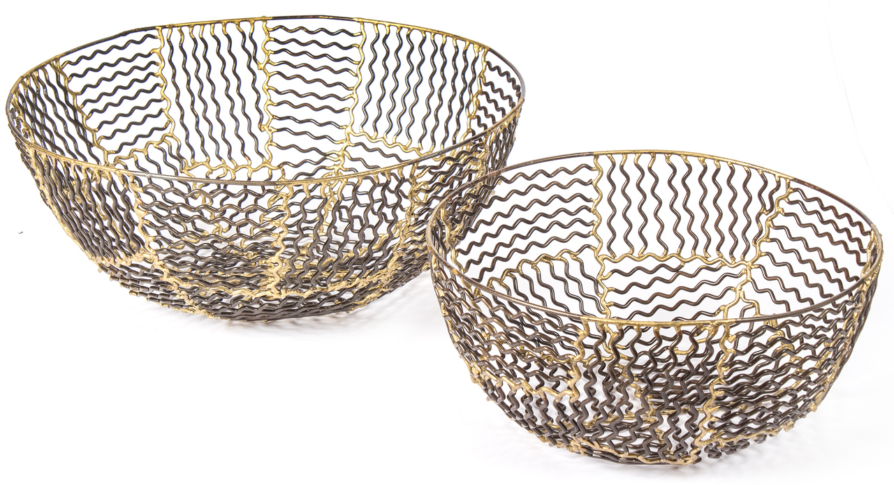 red fig home decorative metal baskets set iron bowls bronze resized wire basket accent table bowl large small decor accessory gold two rugs patio seating windham tall cabinet with
