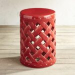 red lattice garden stool spencer ave accent table pier imports large antique wall clock wicker furniture custom butcher block countertops small dining with leaf dark mango wood 150x150