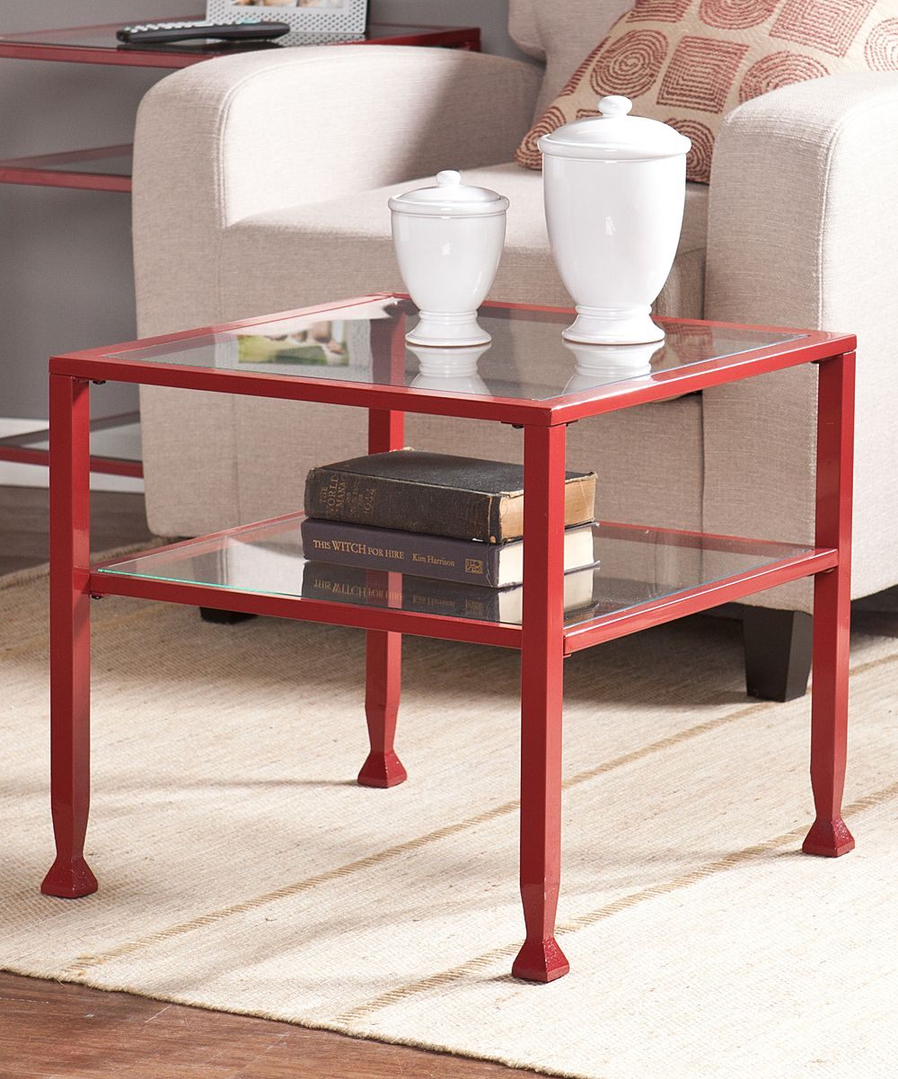 red metal glass bunching cocktail table products accent tool chest foot round tablecloth cherry wood coffee pottery barn leather sofa patio furniture clearance target marble mid