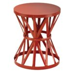red outdoor side tables patio the hampton bay round metal wood end garden stool chili cedar log coffee table navy blue bedroom lamps light gray nightstand carpenter vise cement 150x150