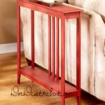 red slim space saver accent table wooden narrow hallway entry sofa thin couch wood mdf wine glass cabinet battery operated bedroom lights small cocktail white cloth tablecloths 150x150