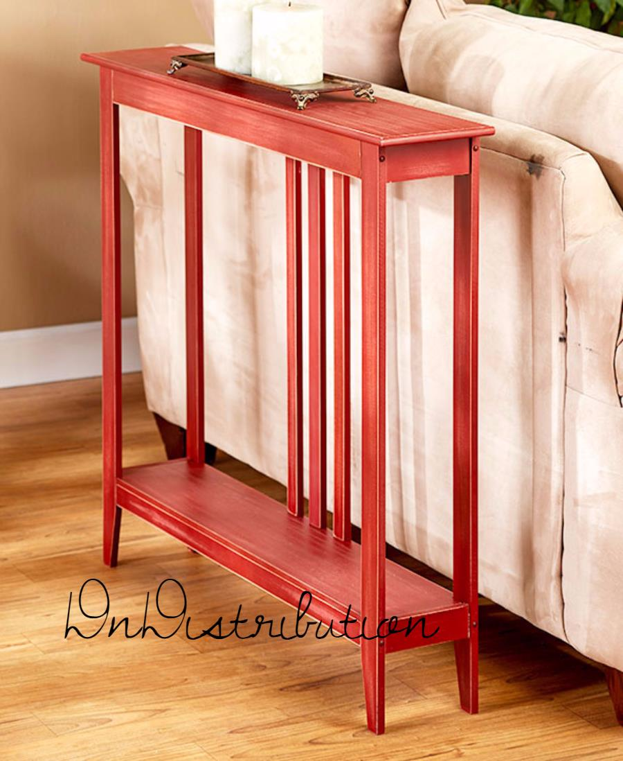 red slim space saver accent table wooden narrow hallway entry sofa thin couch wood mdf wine glass cabinet battery operated bedroom lights small cocktail white cloth tablecloths