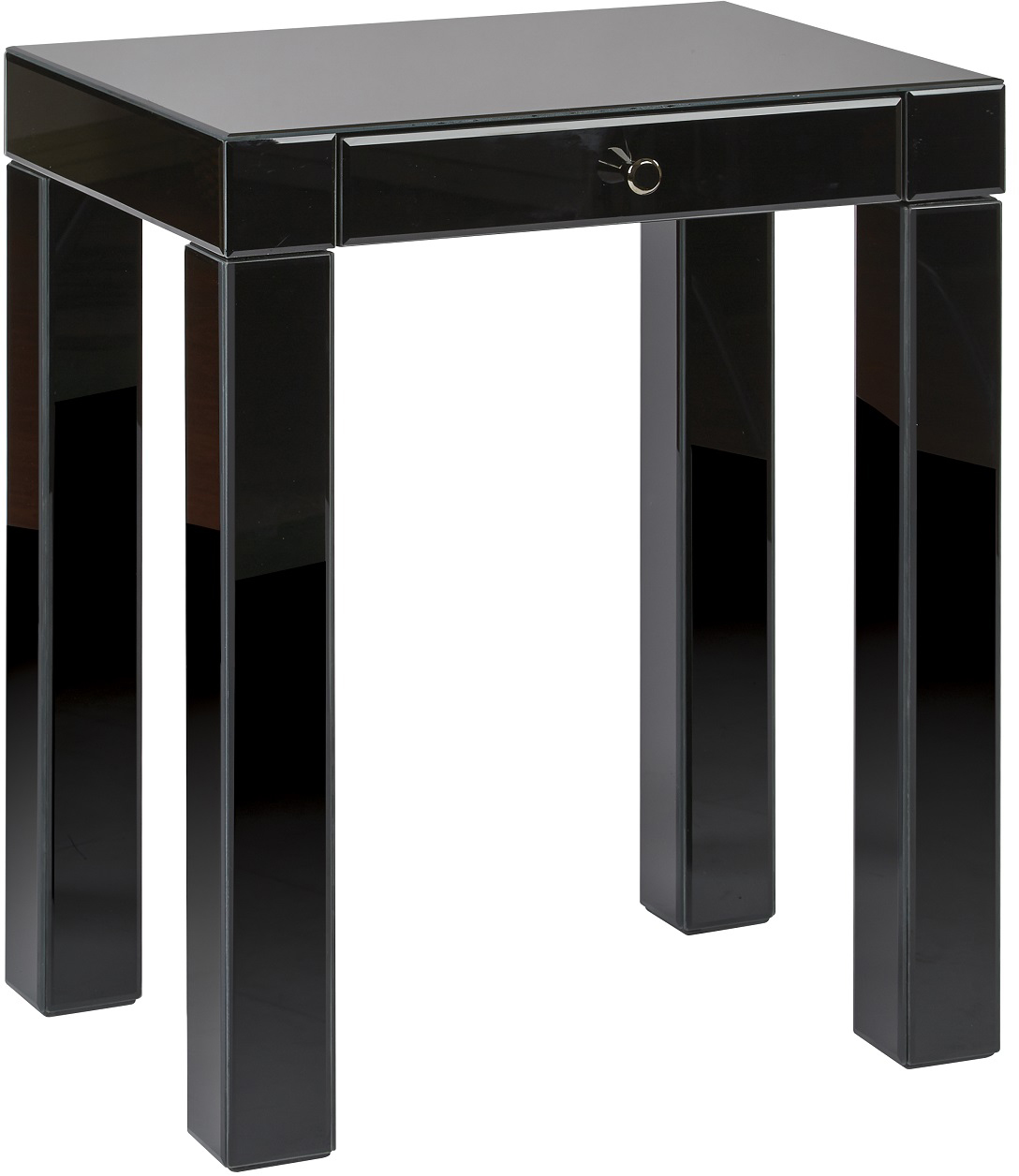 reflections accent table with black glass finish office star ave six pedestal plant stand indoor high console floral chair zinc short nightstand dressing ornaments pottery barn