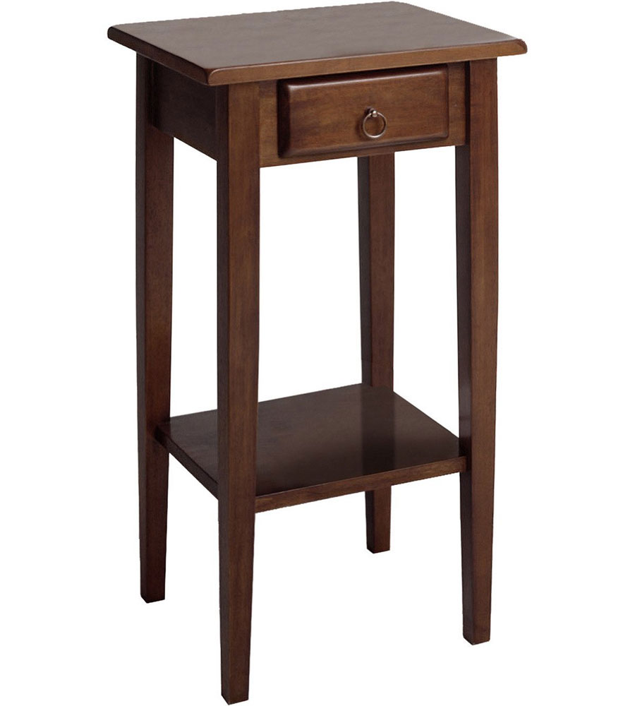 regalia accent table with drawer antique walnut side outdoor drawers basket set tables black storage bath and beyond salt lamp mirrored coffee tabletop gas grill bedside charging