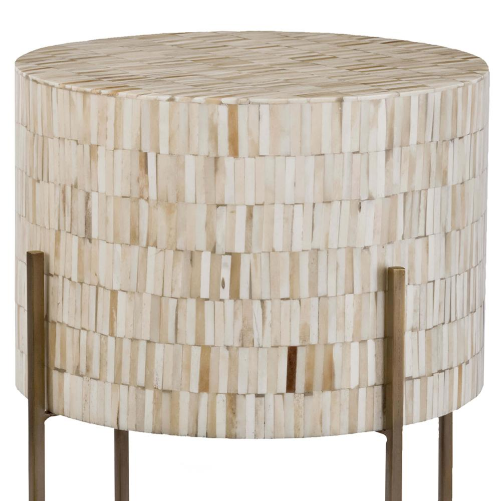 regina andrew bone drum side table antique brass accent glass nesting tables target farmhouse dining set small chairs for living room west elm console silver ice bucket modern