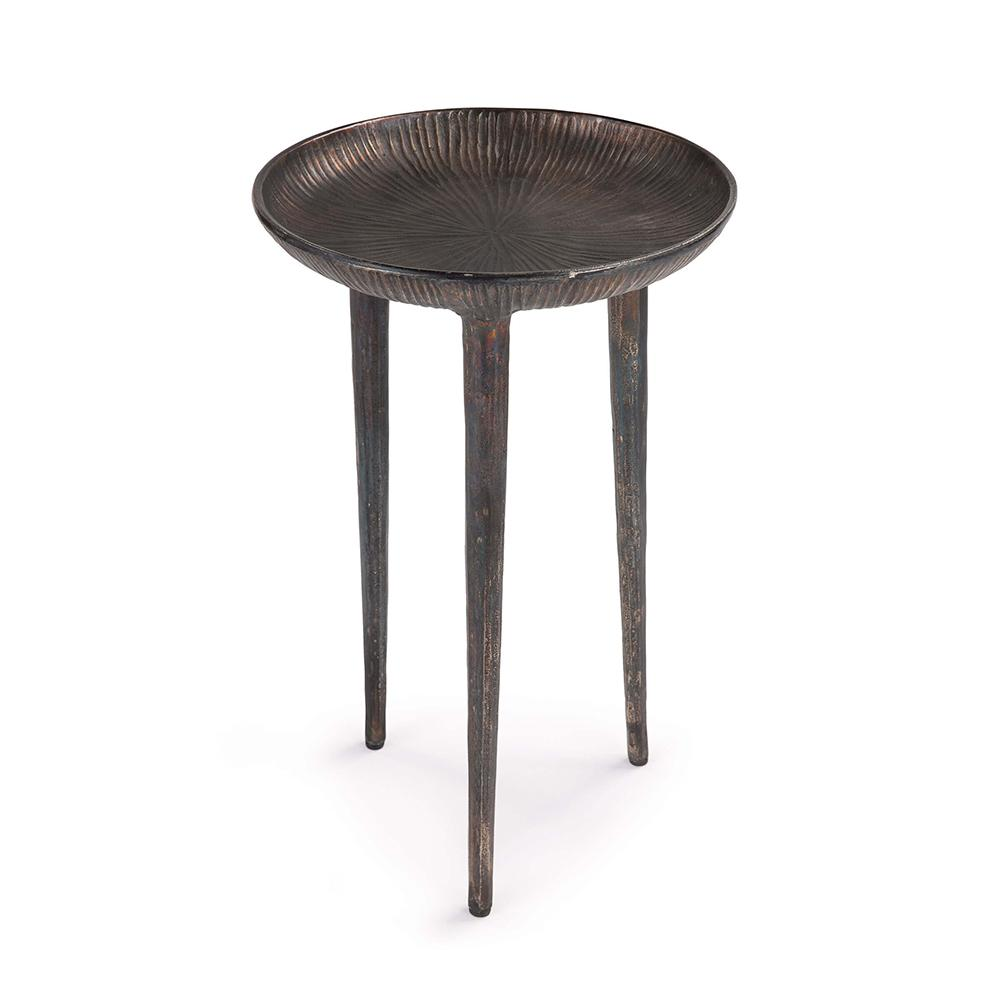 regina andrew industrial tripod accent table blackened zinc reasonably furniture marine style lighting nautical lamps sofa decor pier one imports dining weekend storage cabinets