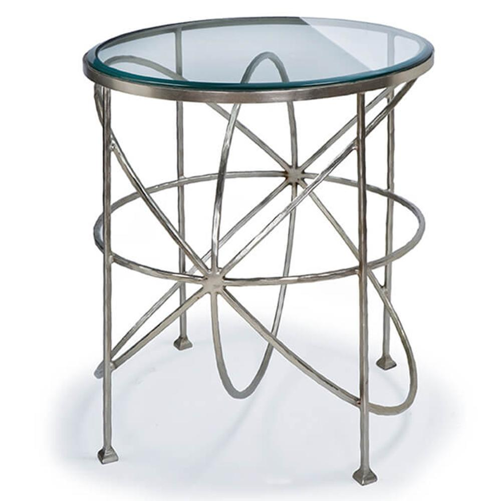 regina andrew round orbitals accent table with glass top polished nickel wood iron coffee hallway console outdoor sofa wooden wine rack french small toronto monarch dining