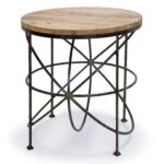 regina andrew round orbitals accent table with wooden top blackened iron amazing coffee tables nautical chandelier shades garden set concrete look teal kitchen decor large storage 150x150