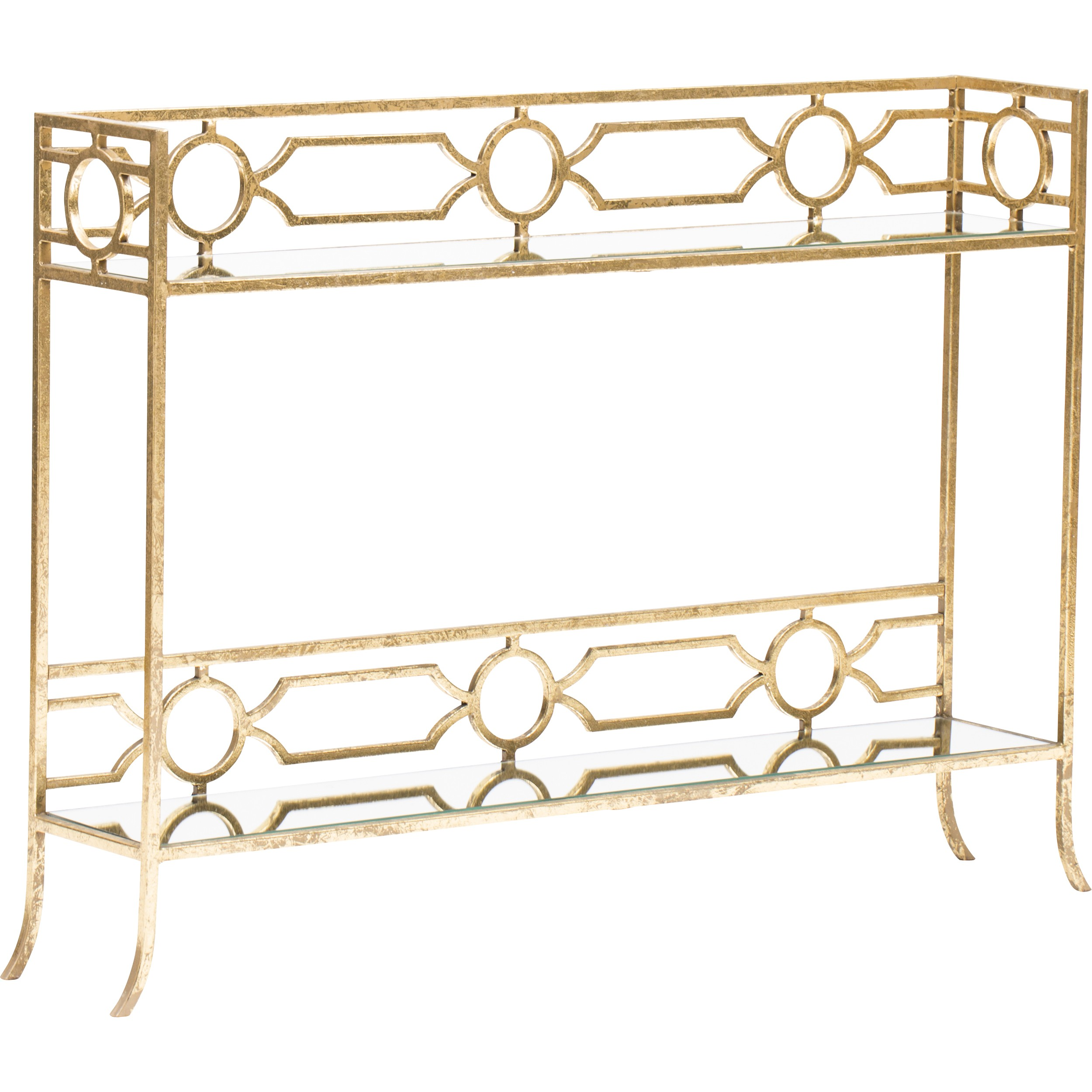regina andrews geometric shelf console gold accent table furniture tables narrow black end mango wood stackable outdoor patio swing tennis glass nightstand rose side drummer stool