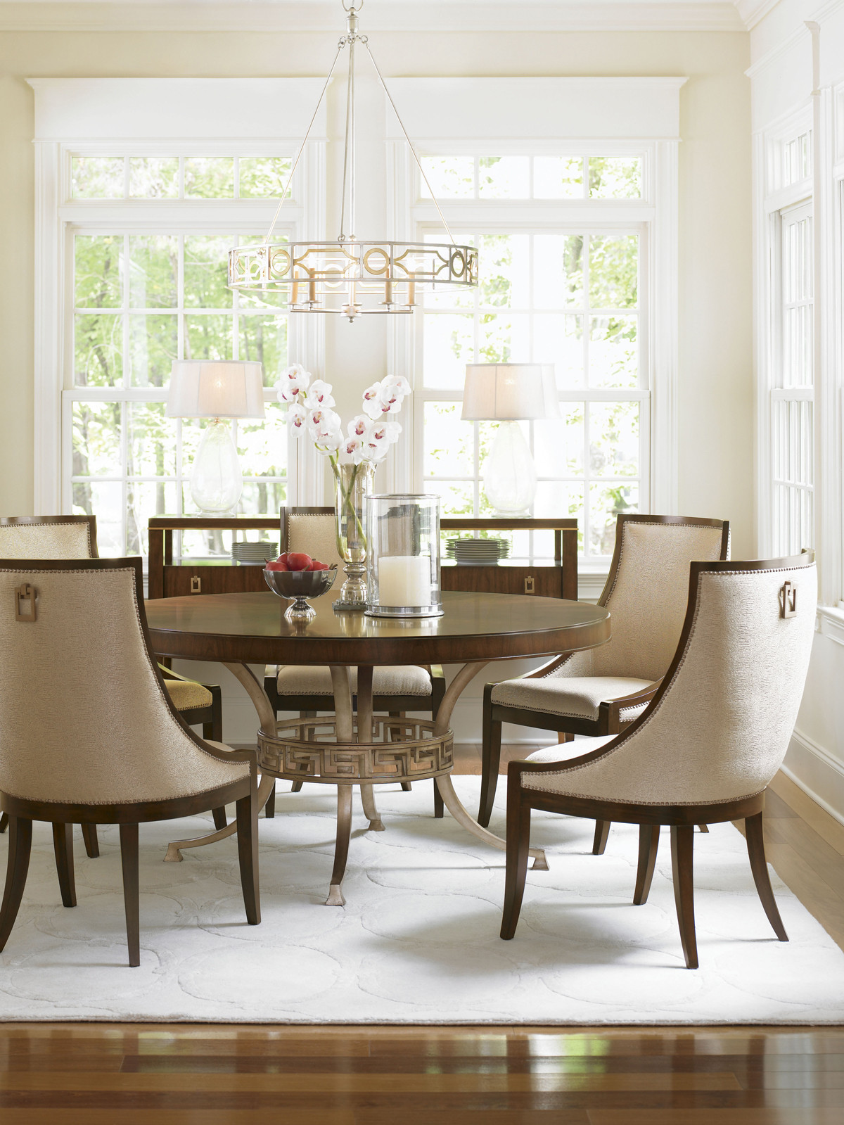 regis round dining table lexington home brands wood accent five below tower place homesense bar stools circular patio cover sterling and noble clock living room drawing mid
